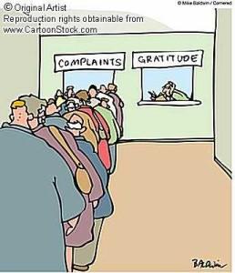 Complaints vs. Gratitude