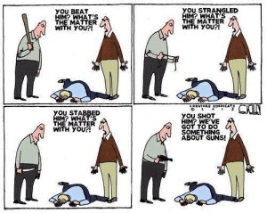 Beating, Strangling, Stabbing, and Gun Hypocrisy Double   Standards