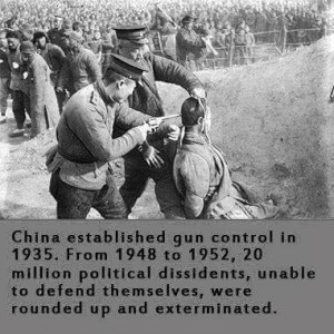 Communist China Gun Control Preceded Extermination of Political Dissidents