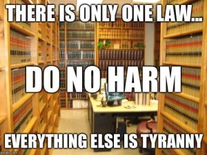 There Is Only One Law, Do No Harm, Everything Else Is   Tyranny, Books in  Library