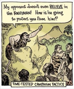 Caveman Bogeyman Rhetoric