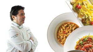 Chef Marcello with Seafood Bean Soup